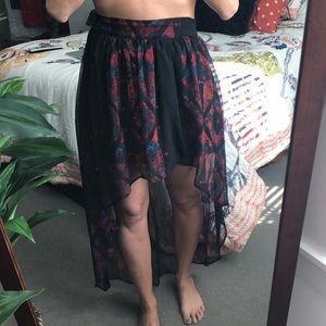 Printed high-low skirt by ecote